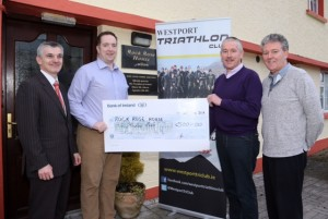 Presentation Westport Triathlon to Rock Rose House