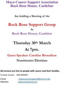 Monthly Support Group March