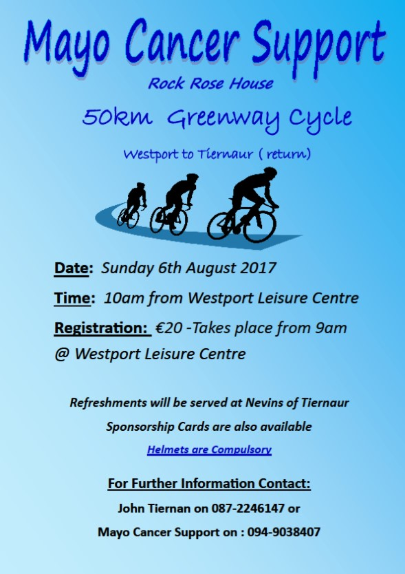 Mayo Cancer Support Association Ltd Annual Greenway Cycle 2017
